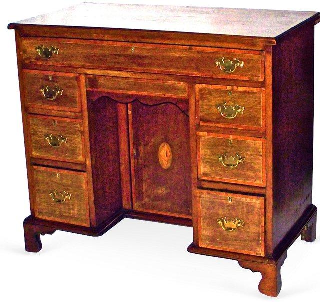18th-C. English Inlaid Desk
