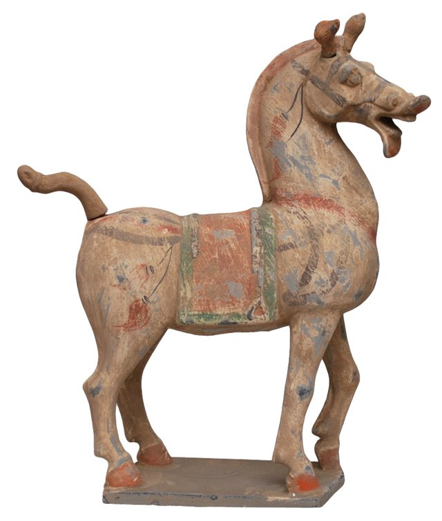 Tang  Dynasty-Style Horse Sculpture