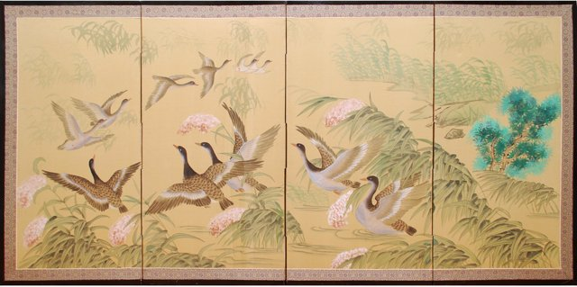 Silk Screen w/ Ducks