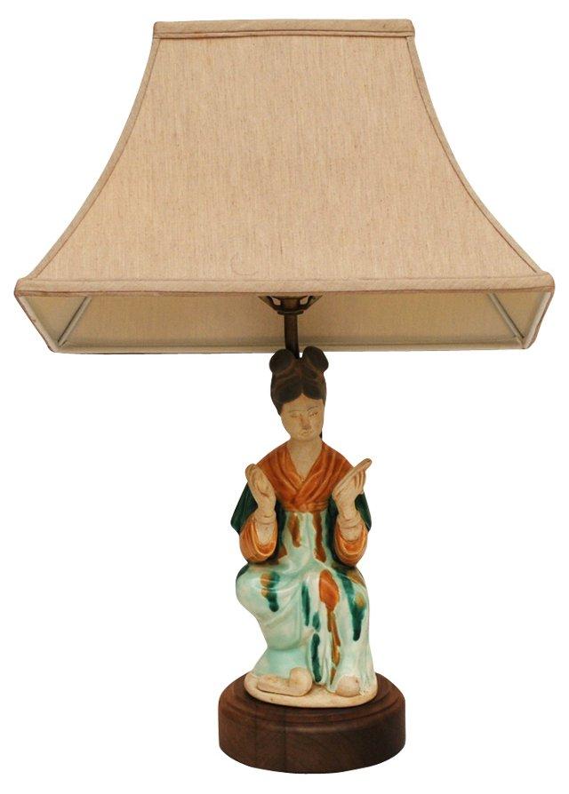 Vintage Chinese Figural Lamp