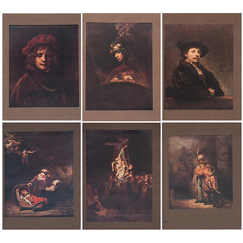 Rembrandt Lithographs by M. Menpes, S/6