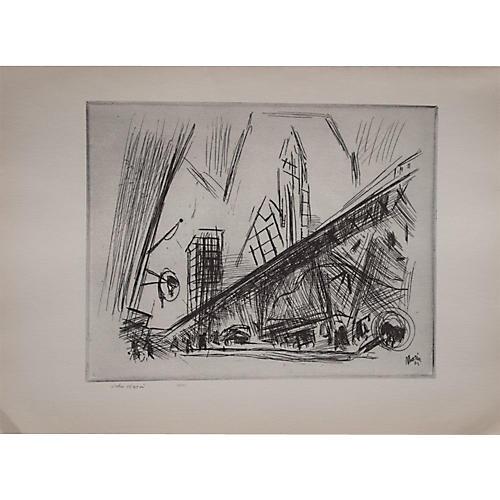 John Marin, Downtown New York, 1939