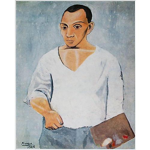 Picasso Autoportrait Photogravure