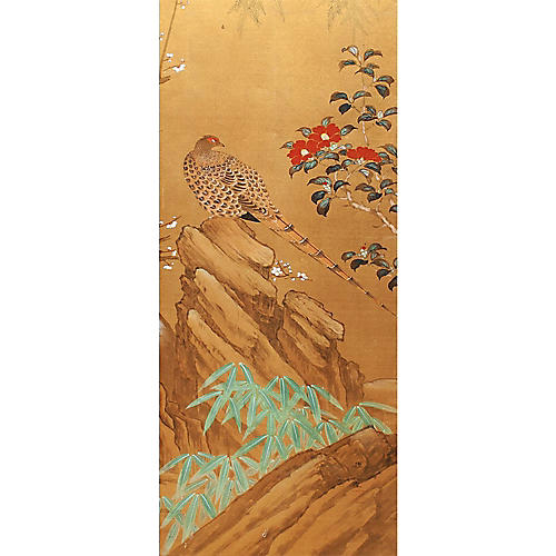 1960s Japanese Silk Panel