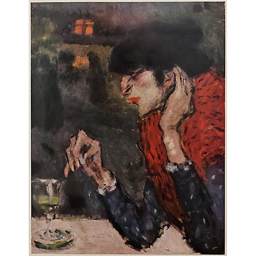 Picasso Absinthe Drinker Print, 1954
