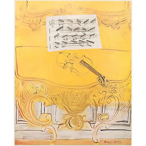 Dufy Yellow Console w/ Violin, 1954