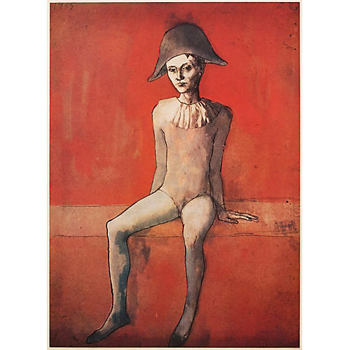 1947 Picasso l'Arlequin Assis Lithograph