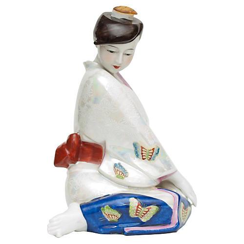 C.1950s Japanese Porcelain Sake Bottle