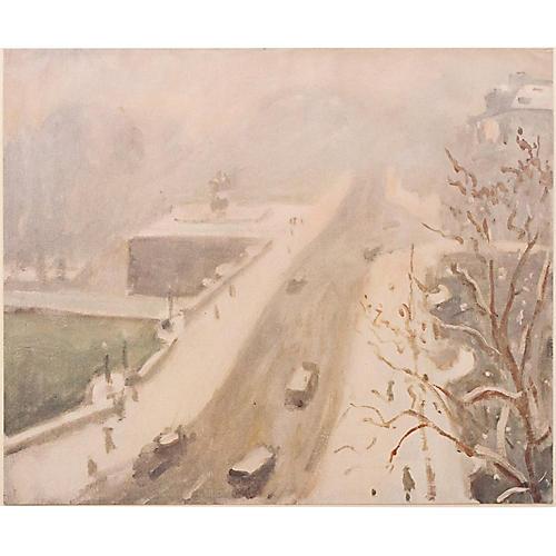 A. Marquet Le Pont Neuf, Paris, 1947