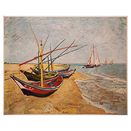 Van Gogh, Fishing Boats on the Beach