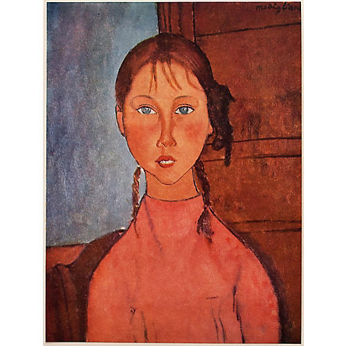 Modigliani, Girl w/ Braids, 1958