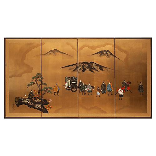 C.1920-40s The Tale of Genji Screen