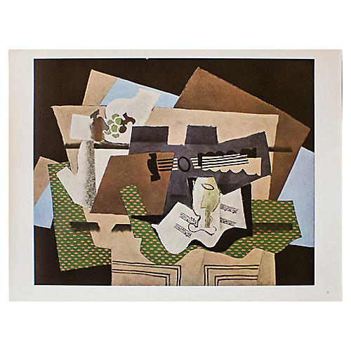 1940s Georges Braque, Glass & Guitar