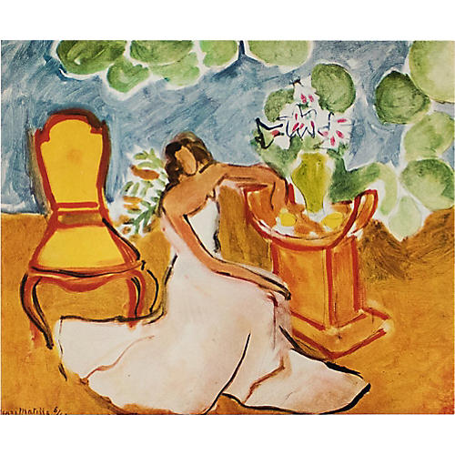 1946 Matisse, Girl in the White Dress
