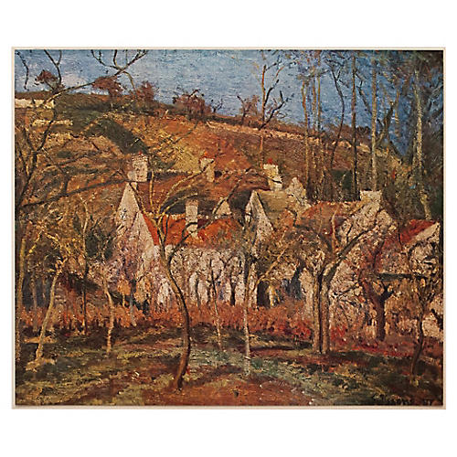 1930s Pissarro, Red Roofs in Pontoise