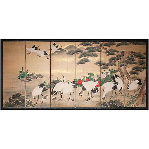 Monumental Edo Screen w/Support Brackets