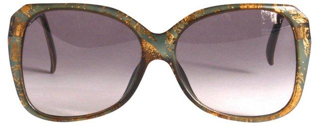Gold Flecked Dior Sunglasses
