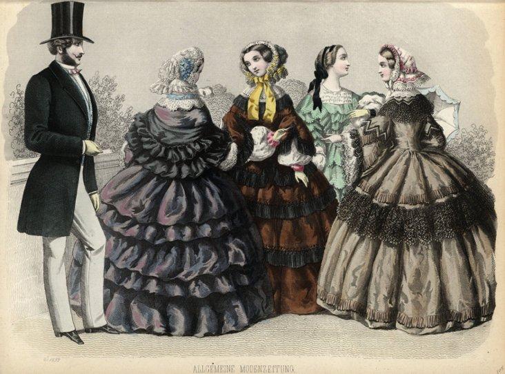 Moden-Zeitung Fashion Print, C. 1855