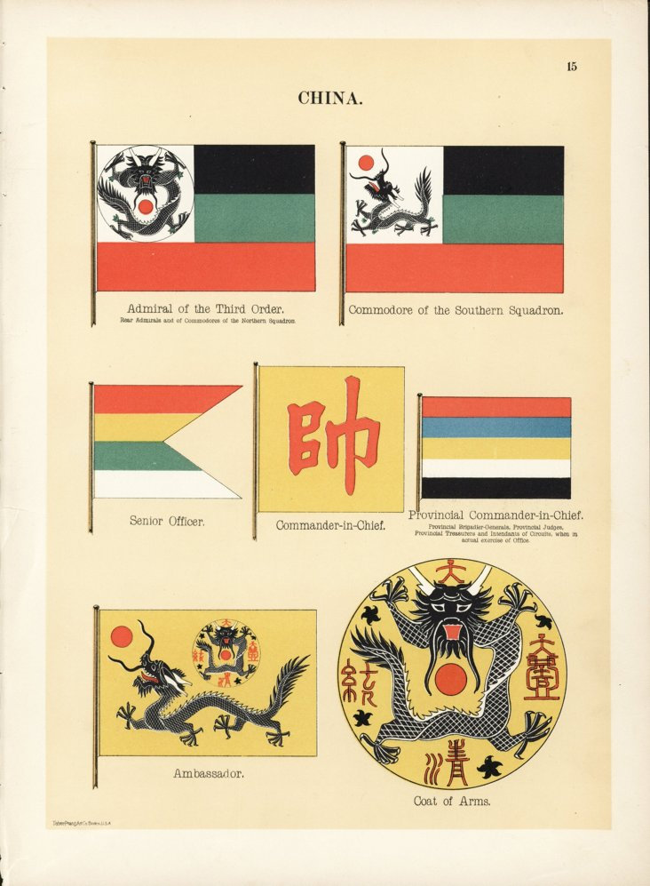 China  Flag Print, 1899