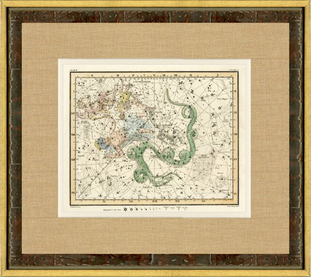 Ursa Minor Constellation Map, 1820