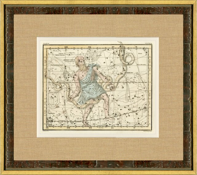 Ophiuchus Star Map,  1820