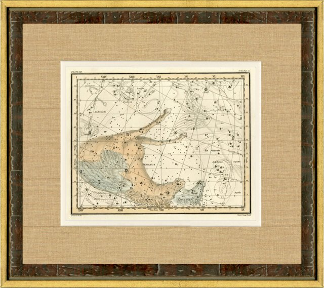 Pegasus Constellation Map, 1820