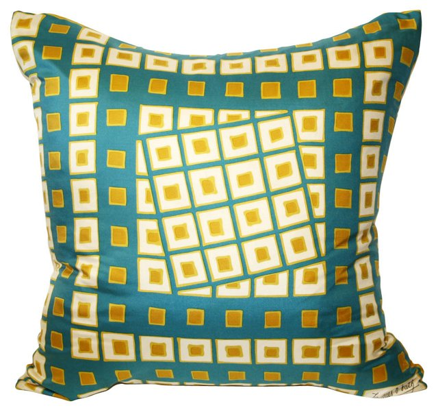 Jacques Fath Silk Scarf Pillow