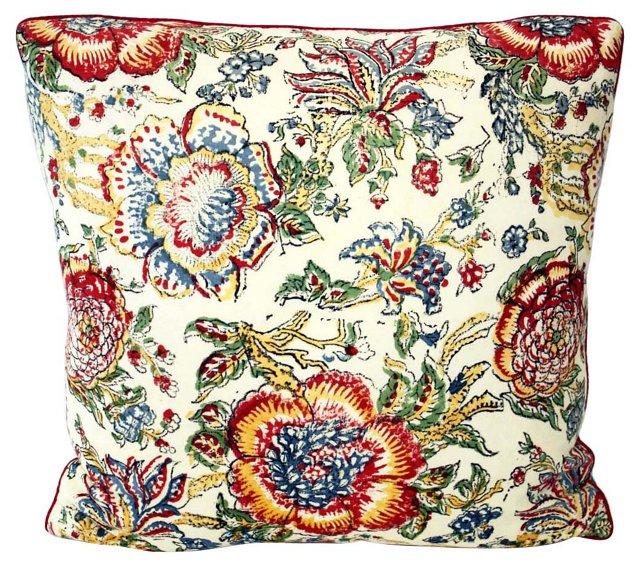 Indian  Floral   Pillow