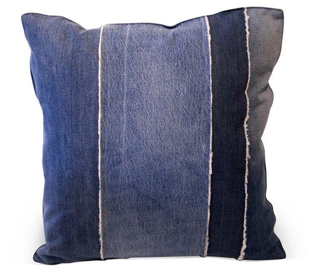 Pieced Denim  Pillow