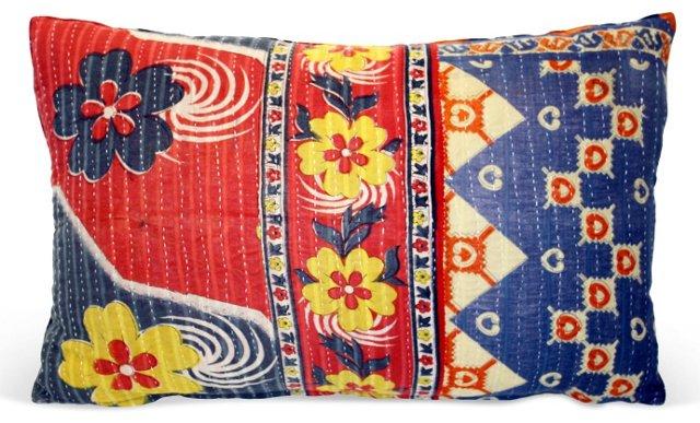 Kantha Lumbar Pillow