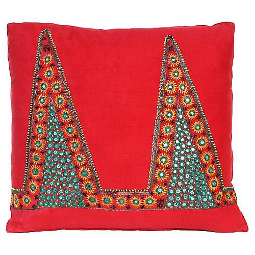 Shisha Mirrored Fabric Pillow