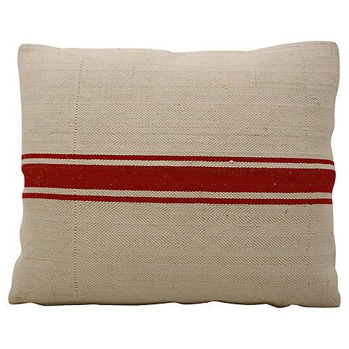 Flax Feed Grain Sack Pillow
