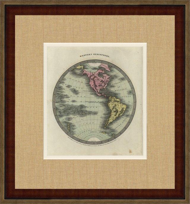 1830s Map of the Western Hemisphere