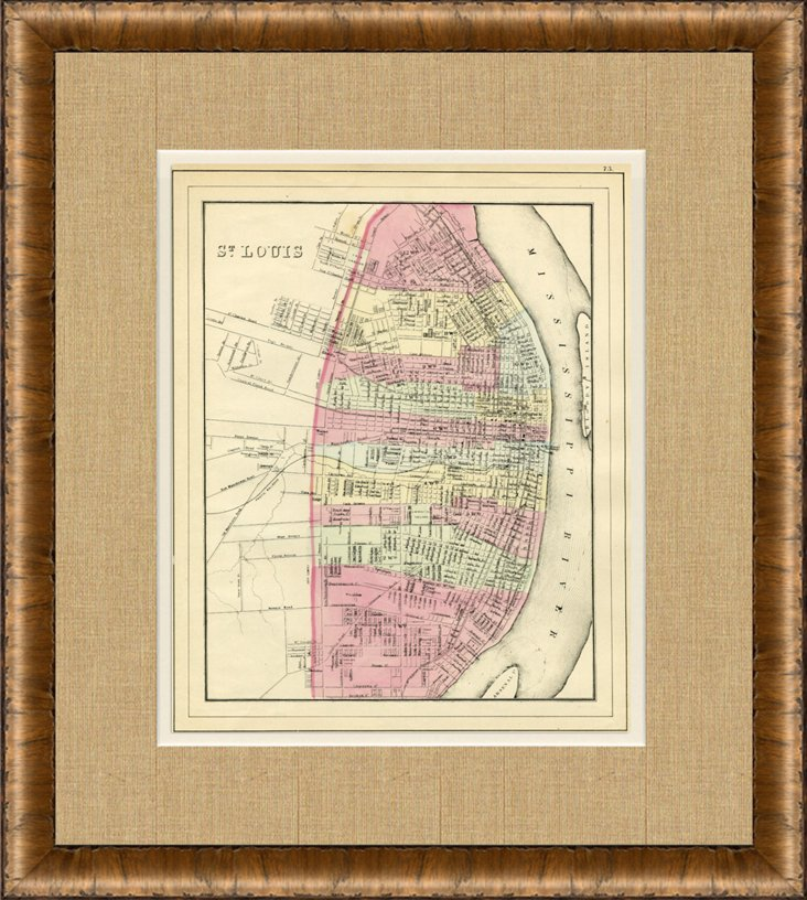 Map of St. Louis, 1882