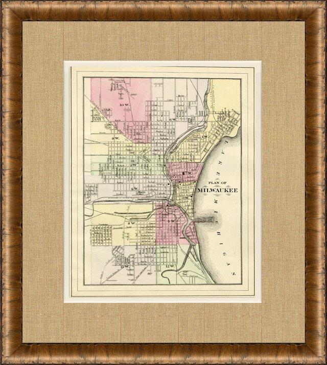 Map of Milwaukee, 1882
