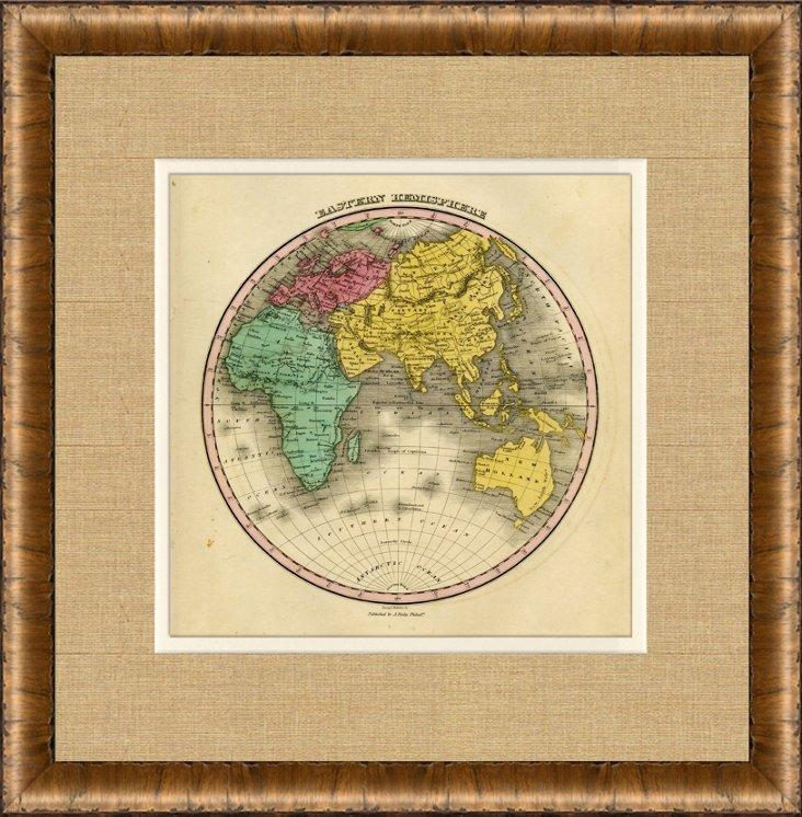 Map of the Eastern Hemisphere, 1828