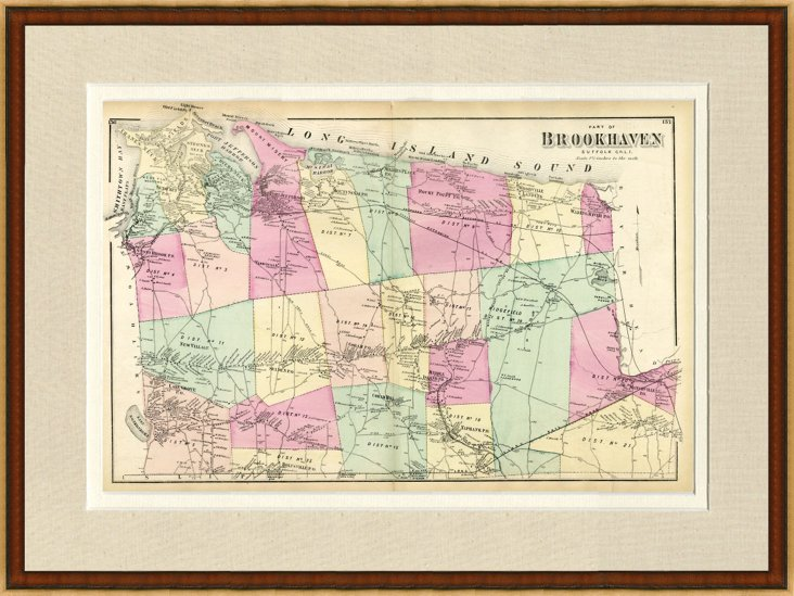 Map of Brookhaven, NY, 1873