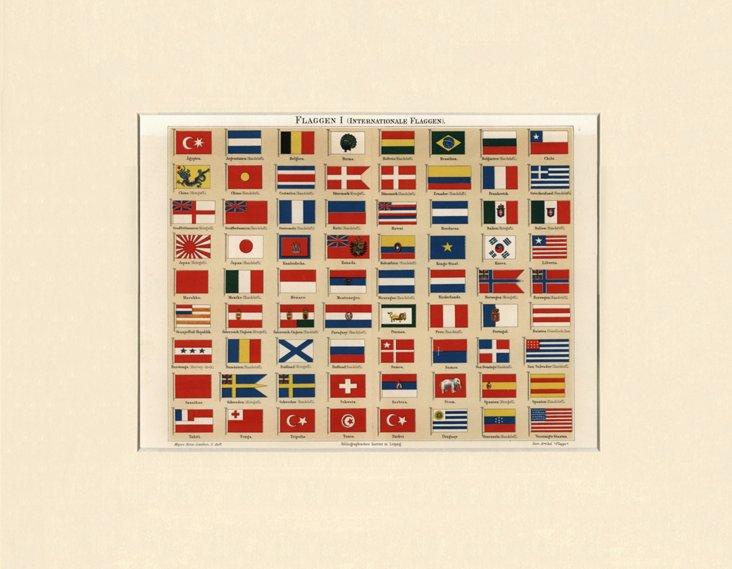 Flag Chart, 1898