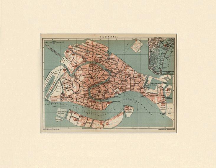 Map of Venice, 1899