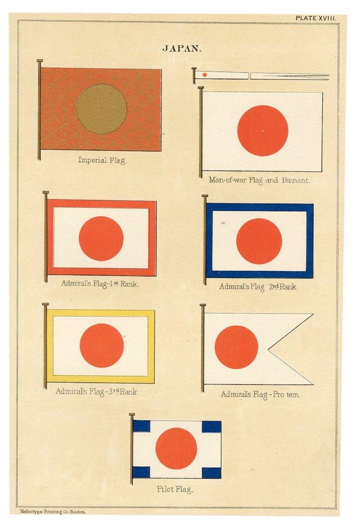 Flag Print, Japan, 1882