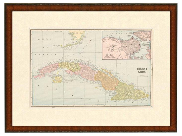 Map of Cuba, 1899