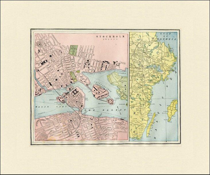 Stockholm Map, 1892