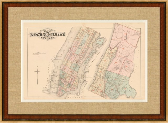 Map of New York City, 1879