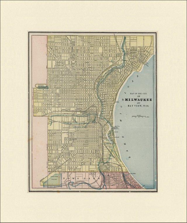 Map of  Milwaukee, C. 1900