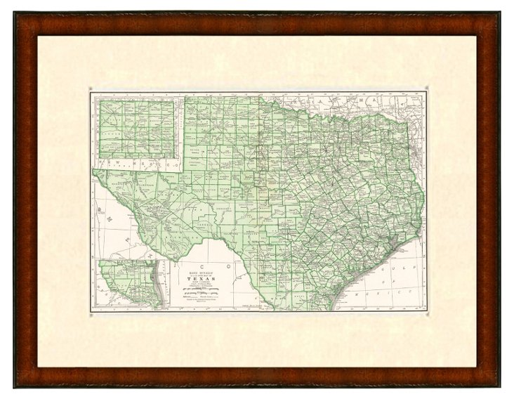 Map of Texas, 1937