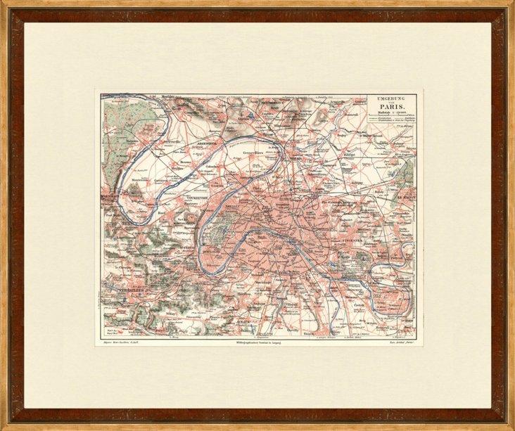 Map of Paris & Its Environs, 1902