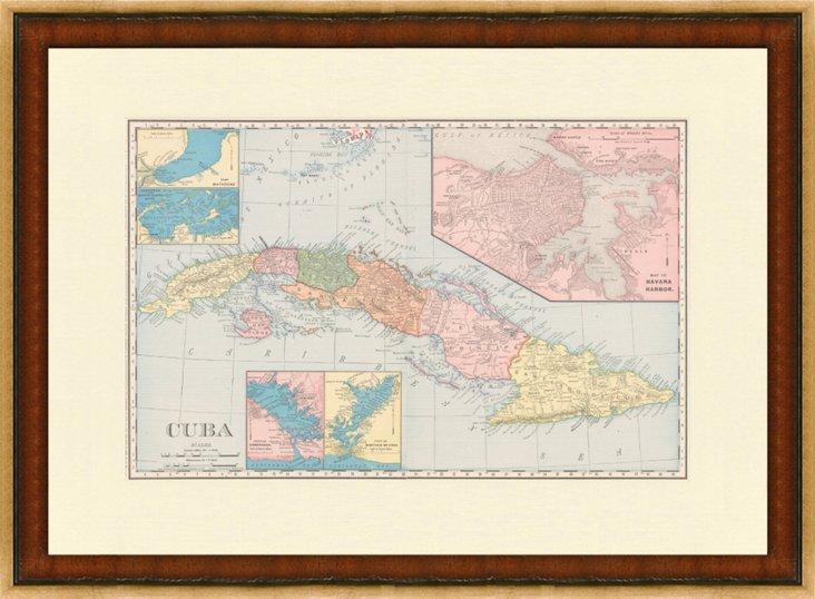 Map of Cuba, 1898
