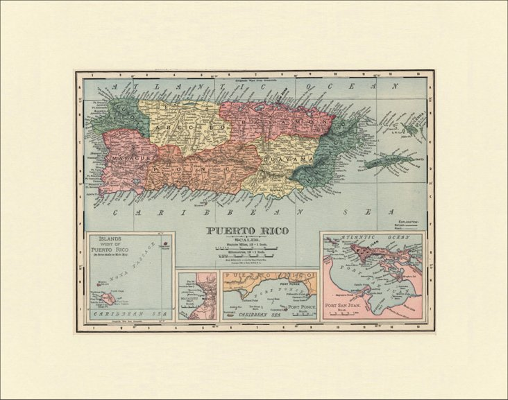 Map of Puerto   Rico, 1899