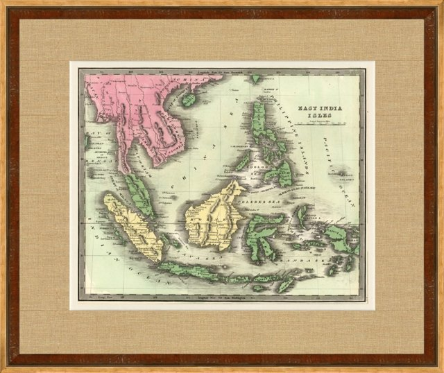 Map of the East Indies, 1842