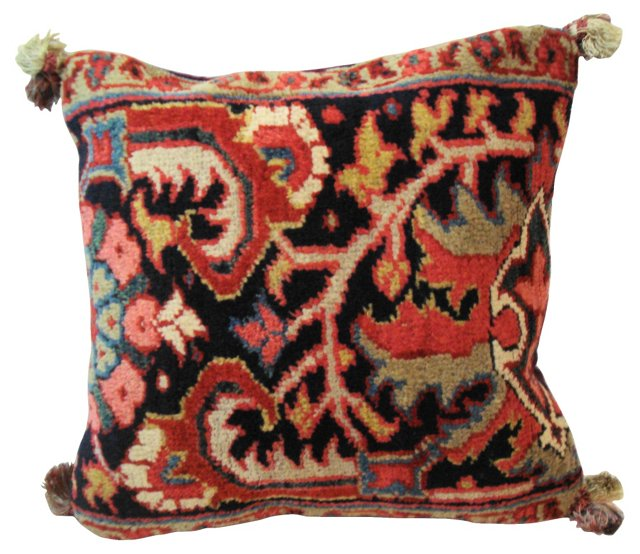 Antique Heriz Fragment Pillow